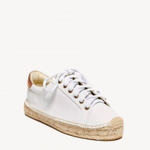 Soludos Leather Platform Espadrille Sneakers